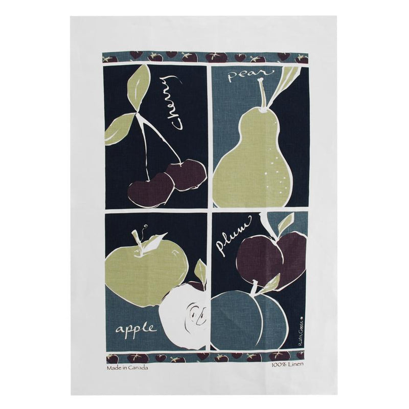 TEA TOWEL - FRUIT BLUE