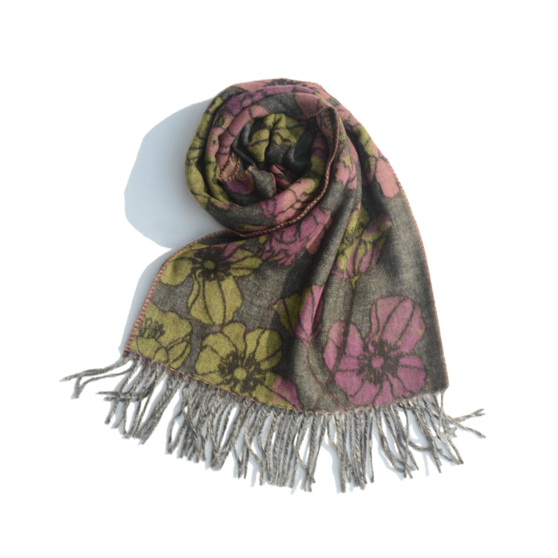 SCARF - PURPLE/GREEN/GREY
