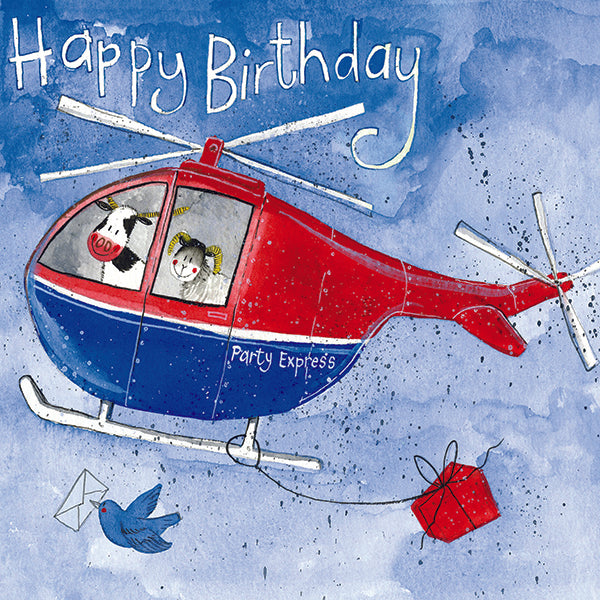 CARD - BIRTHDAY - HELICOPTER HEROES