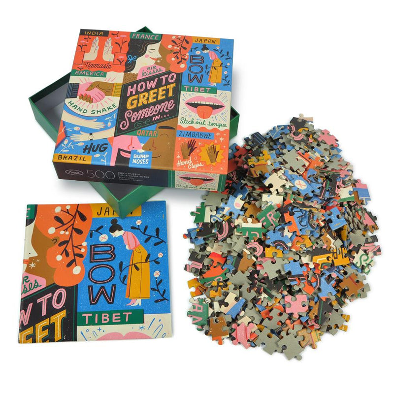 PUZZLE - 500 PIECE - HOW TO GREET SOMEONE