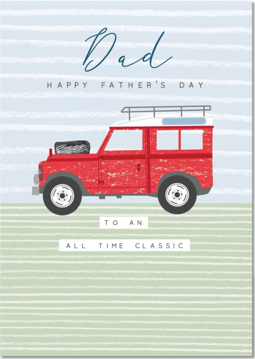 CARD - FATHER'S DAY - LANDROVER