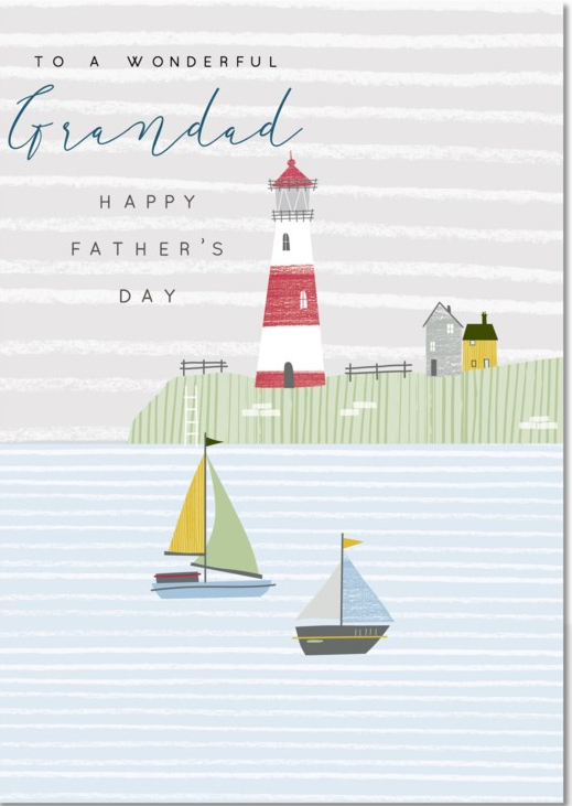 CARD - FATHER'S DAY - LIGHTHOUSE
