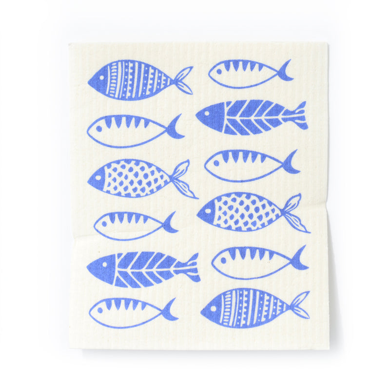CLEANING CLOTH - SWEDISH DISHCLOTH - FISH