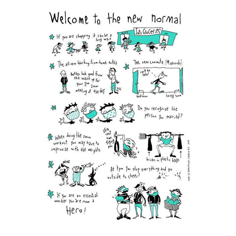 TEA TOWEL - THE NEW NORMAL