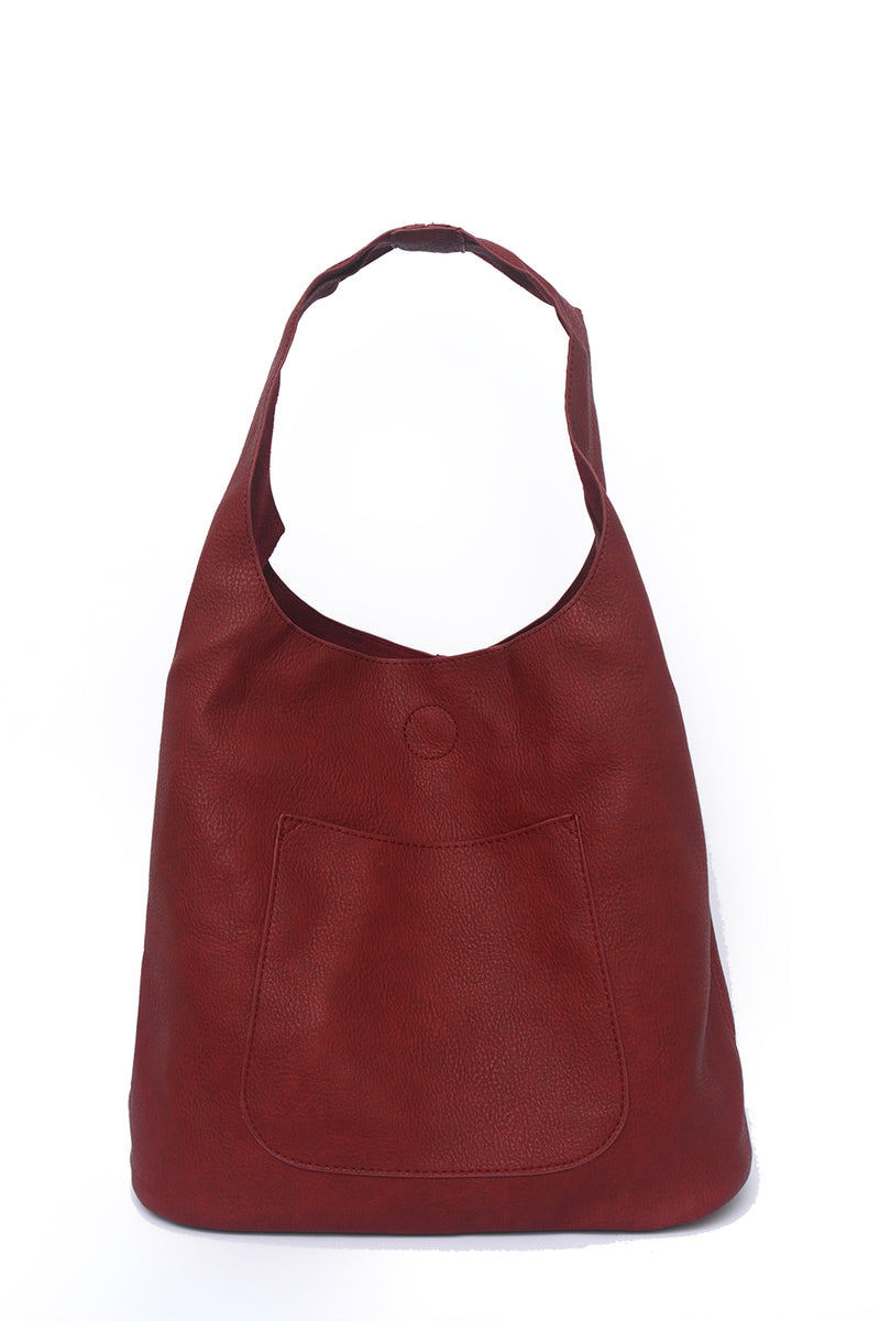 PURSE - OVER SHOULDER TOTE - RED
