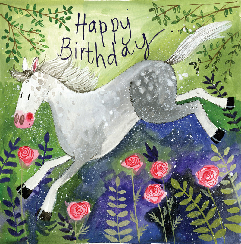CARD - BIRTHDAY - ROSIE HORSE
