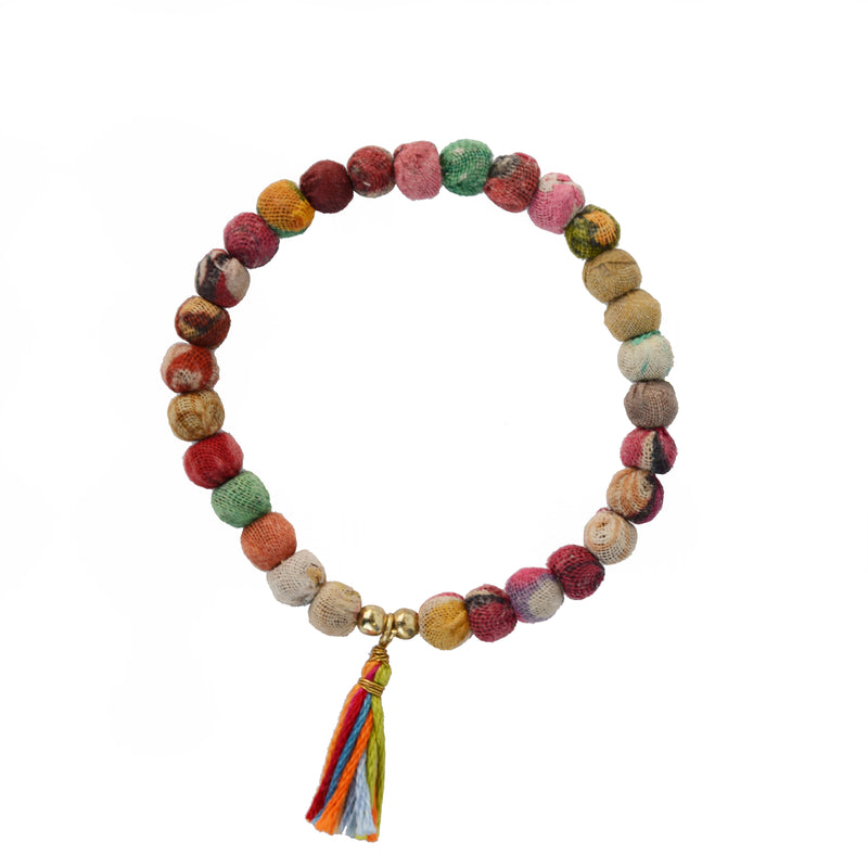 BRACELET - SMALL BEADS WITH TASSEL