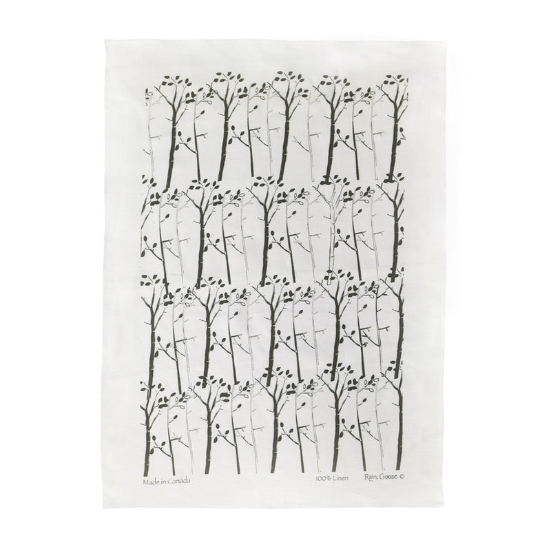TEA TOWEL - TREE WHITE