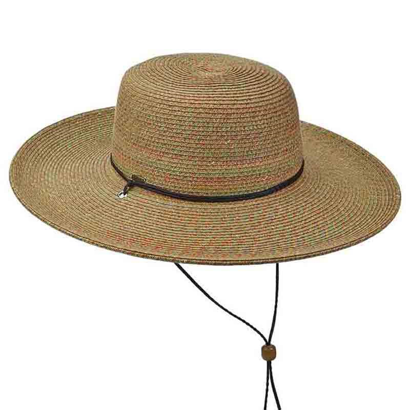 HAT - FLOPPY HAT WITH CHIN STRAP - BROWN
