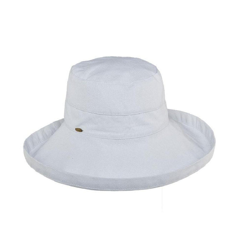 HAT - COTTON - WIDE BRIM - WHITE