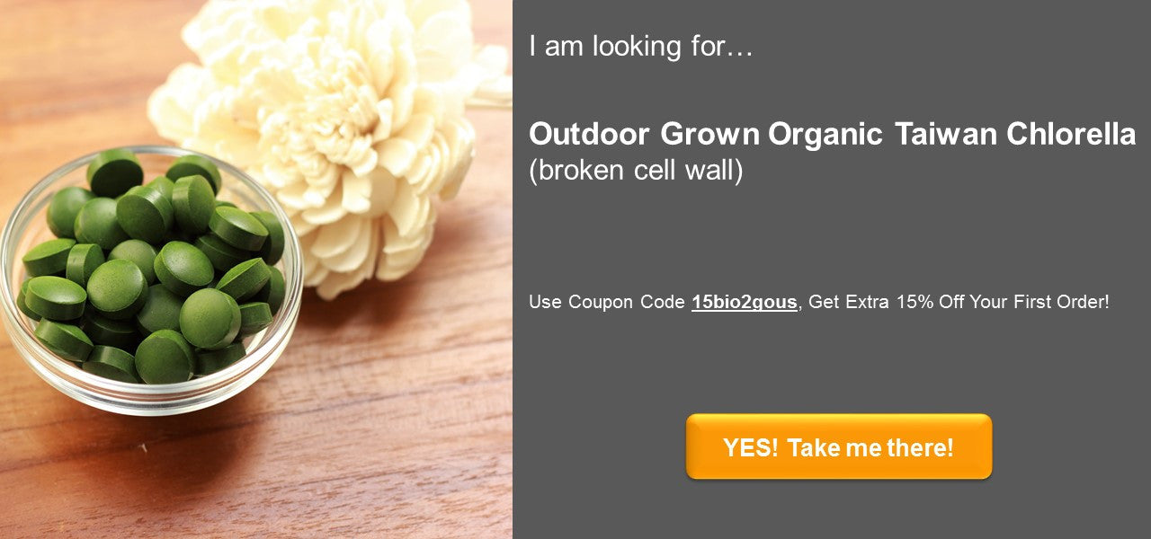 Taiwan - Organic-Chlorella-broken-cell-wall-coupon-code-bio2gohealth