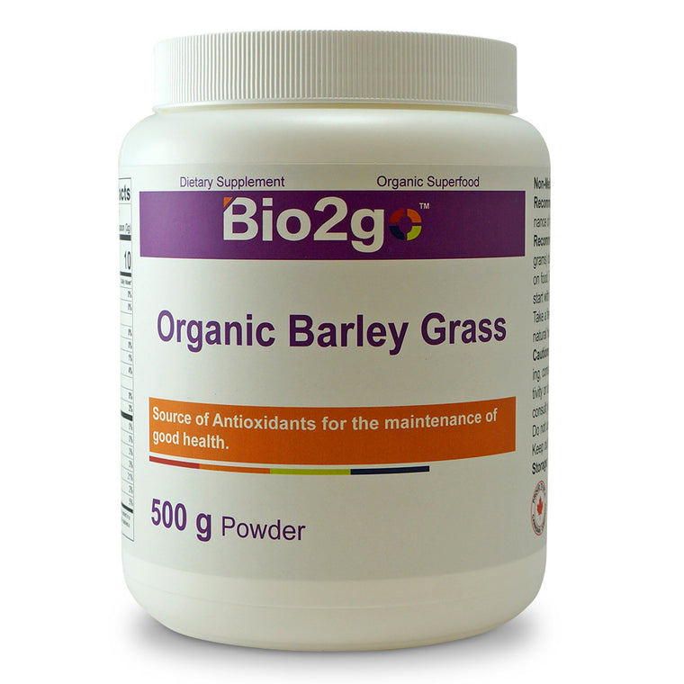 Superfoods-USDA Certified Organic Barley Grass 500g powder by Bio2go™ Health