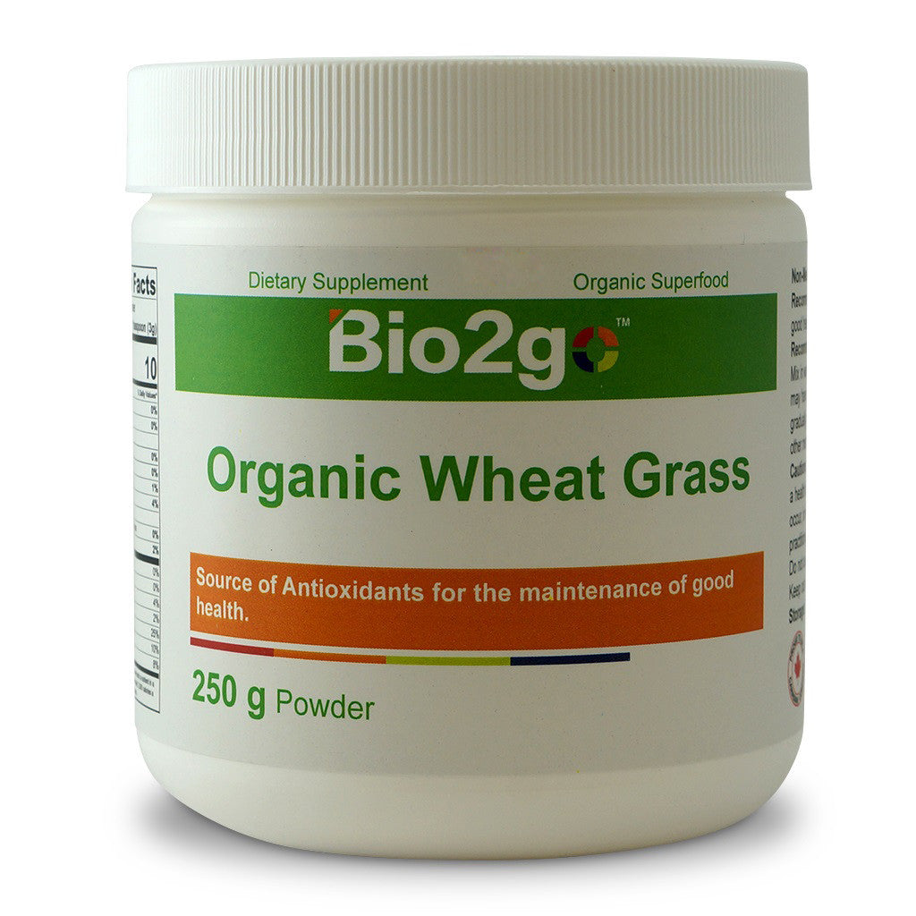 Bio2go™ USDA Certified Organic Wheat Grass Powder (250 g)