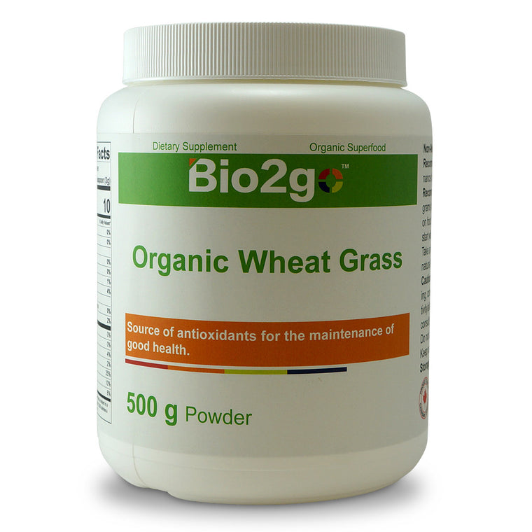 Bio2go™ USDA Certified Organic Wheat Grass Powder (500 g)