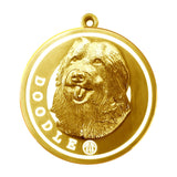 Doodle Dog Id Tag Gold Finish - Tags4Tails