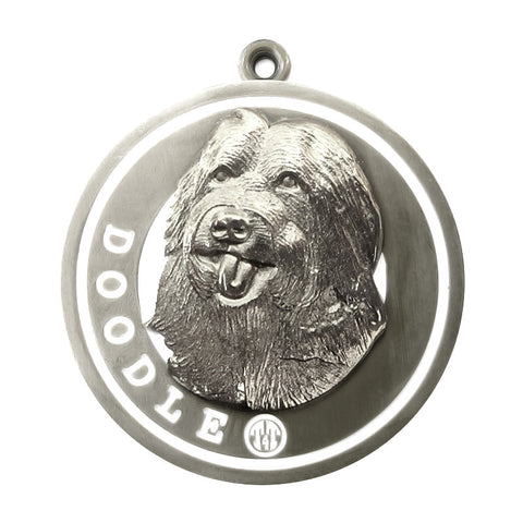 Doodle Dog Id Tag Silver Finish - Tags4Tails