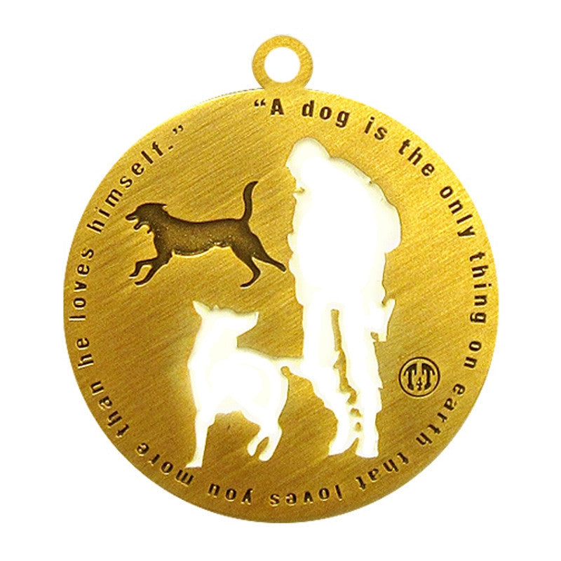 Best Friend Dog Id Tag Antique Gold Finish - Tags4Tails