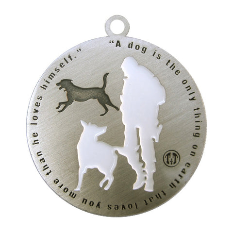 Best Friend Dog Id Tag Antique Silver Finish - Tags4Tails