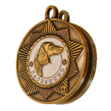 Dachshund Dog Id Tag Antique Gold Finish - Tags4Tails