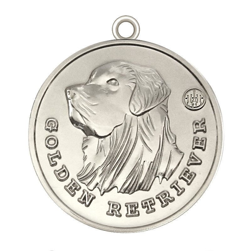 Golden Retriever Dog Id Tag Silver Finish - Tags4Tails