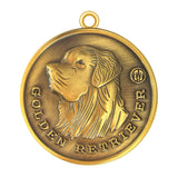 Golden Retriever Dog Id Tag Tag Antique Gold Finish - Tags4Tails