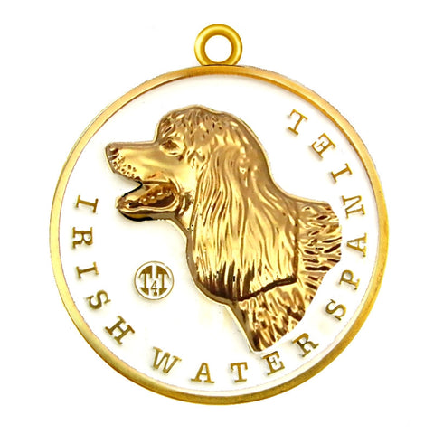 Irish Water Spaniel Dog Id Tag Gold Finish - Tags4Tails