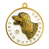 Irish Water Spaniel Dog Id Tag Antique Gold Finish - Tags4Tails