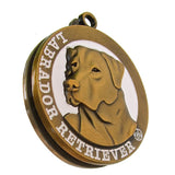 Labrador Retriever  Dog Id Tag Antique Gold Finish - Tags4Tails