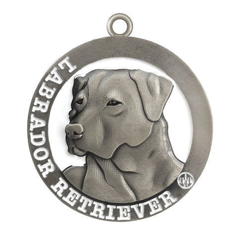 Labrador Retriever  Dog Id Tag Antique Silver Finish - Tags4Tails