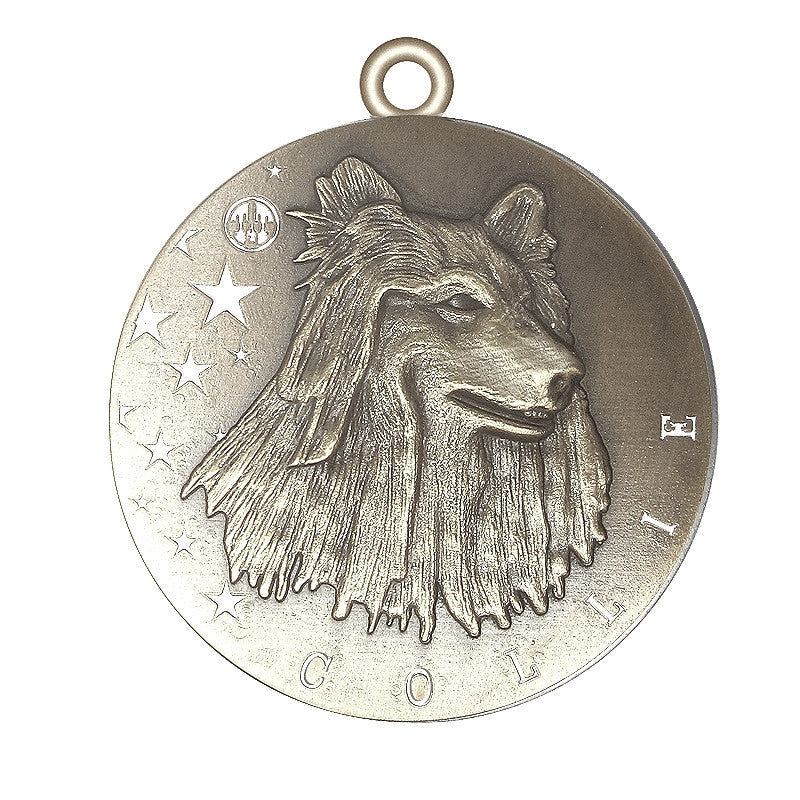 Collie Id Tag Antique Silver Finish - Tags4Tails