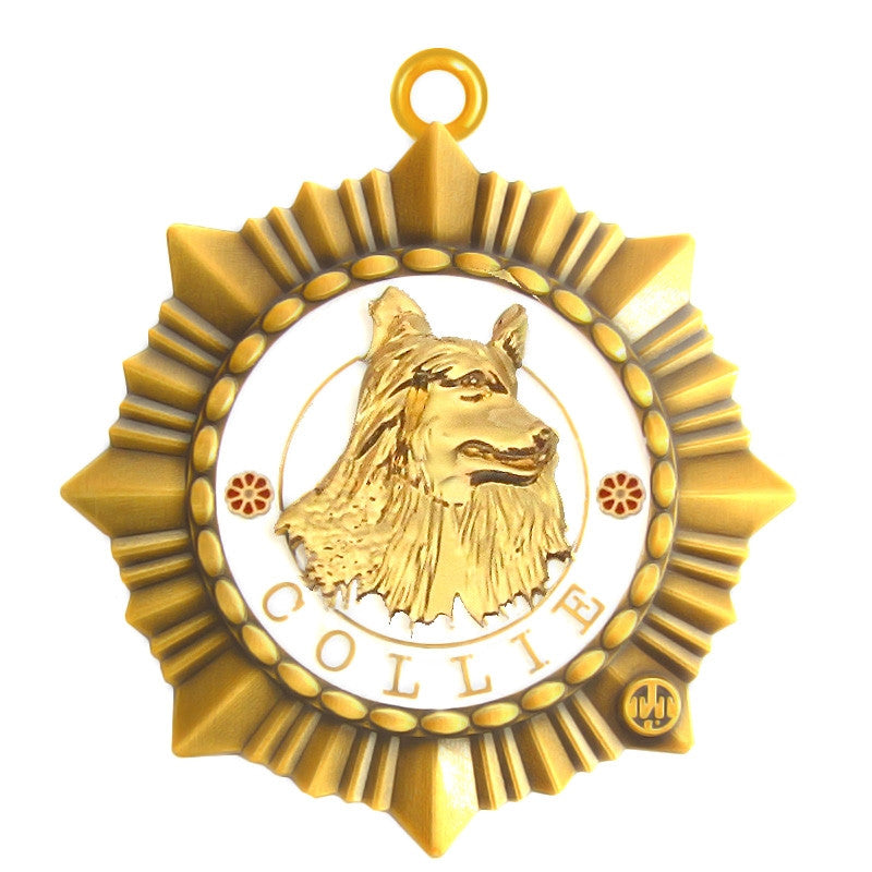 Collie Id Tag Gold Finish - Tags4Tails