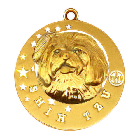 Shih Tzu Dog Id Tag Gold Finish - Tags4Tails