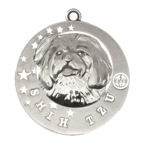 Shih Tzu Dog Id Tag Silver Finish - Tags4Tails