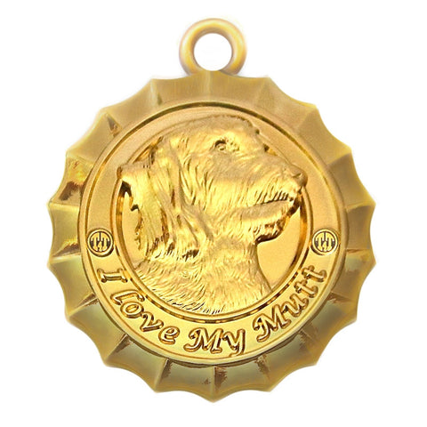 Mutt Dog Id Tag Gold Finish - Tags4Tails