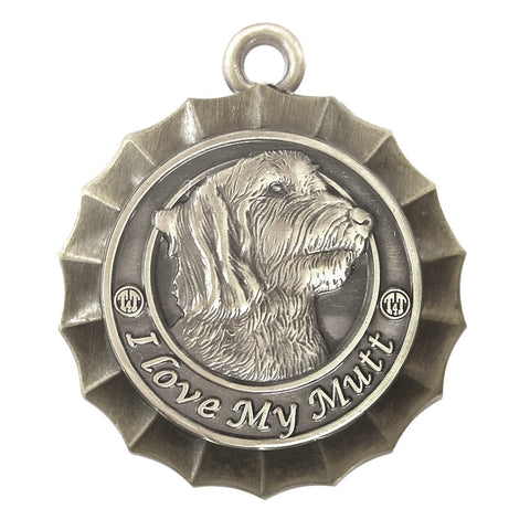 Mutt Dog Id Tag Antique Silver Finish - Tags4Tails
