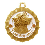 Mutt Dog Id Tag Antique Gold Finish - Tags4Tails
