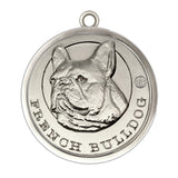 French Bulldog Silver Finish Dog Id Tag - Tags4Tails