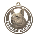 French Bulldog Antique Silver Finish Dog Id Tag - Tags4Tails