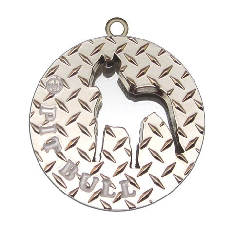 Pit Bull Dog Id Tag Silver Finish - Tags4Tails