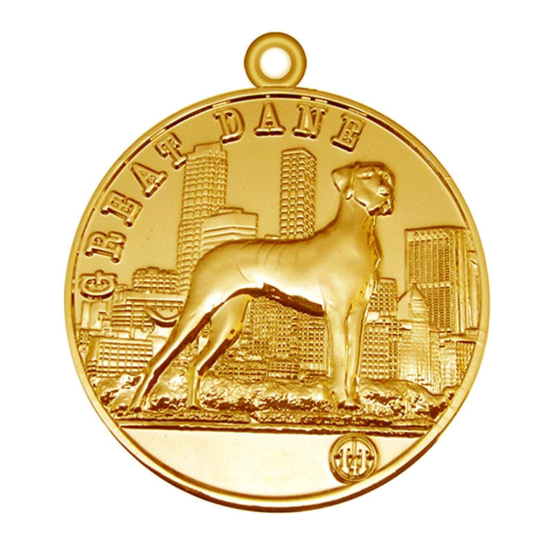 Great Dane Dog Id Tag Gold Finish - Tags4Tails