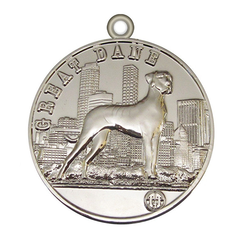 Great Dane  Id Tag Silver Finish - Tags4Tails
