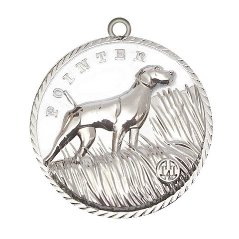 Pointer Dog Id Tag Silver Finish - Tags4Tails