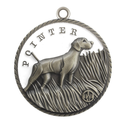 Pointer Dog Id Tag Antique Silver Finish - Tags4Tails