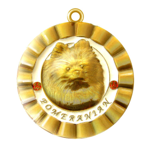 Pomeranian Dog Id Tag Gold Finish - Tags4Tails