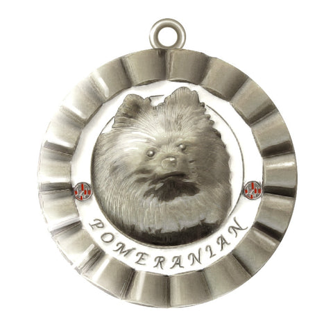 Pomeranian Dog Id Tag Silver Finish - Tags4Tails