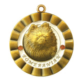 Pomeranian Dog Id Tag Antique Gold Finish - Tags4Tails