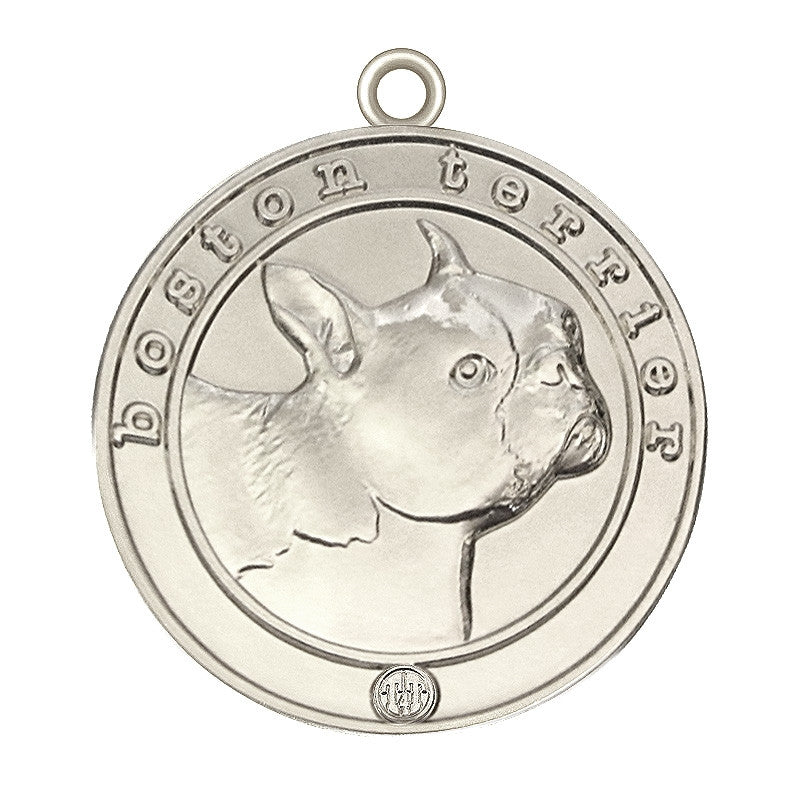 Boston Terrier Id Tag Silver Finish - Tags4Tails