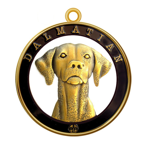 Dalmatian Dog Id Tag Antique Gold Finish - Tags4Tails