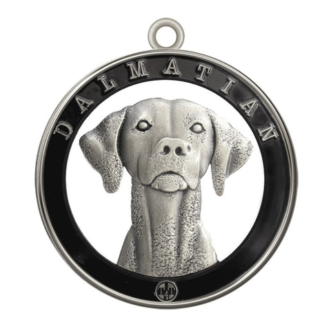 Dalmatian Dog Id Tag Antique Silver Finish - Tags4Tails