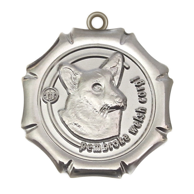 Pembroke Welsh Corgi Dog Id Tag Silver Finish - Tags4Tails